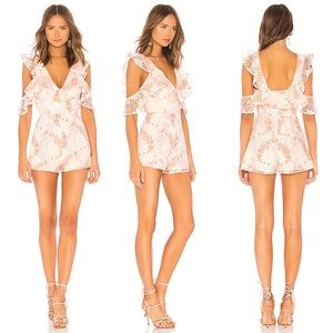 Lovers + Friends Lace Abella Romper